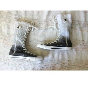 Converse Ombre Glitter High Full Lace Up Sneakers